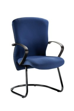 Bodyline Ergo Visitors Chair – Sleigh Base Leather Upholstery