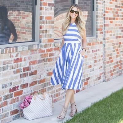 Eliza J Blue White Striped Dress Nordstrom