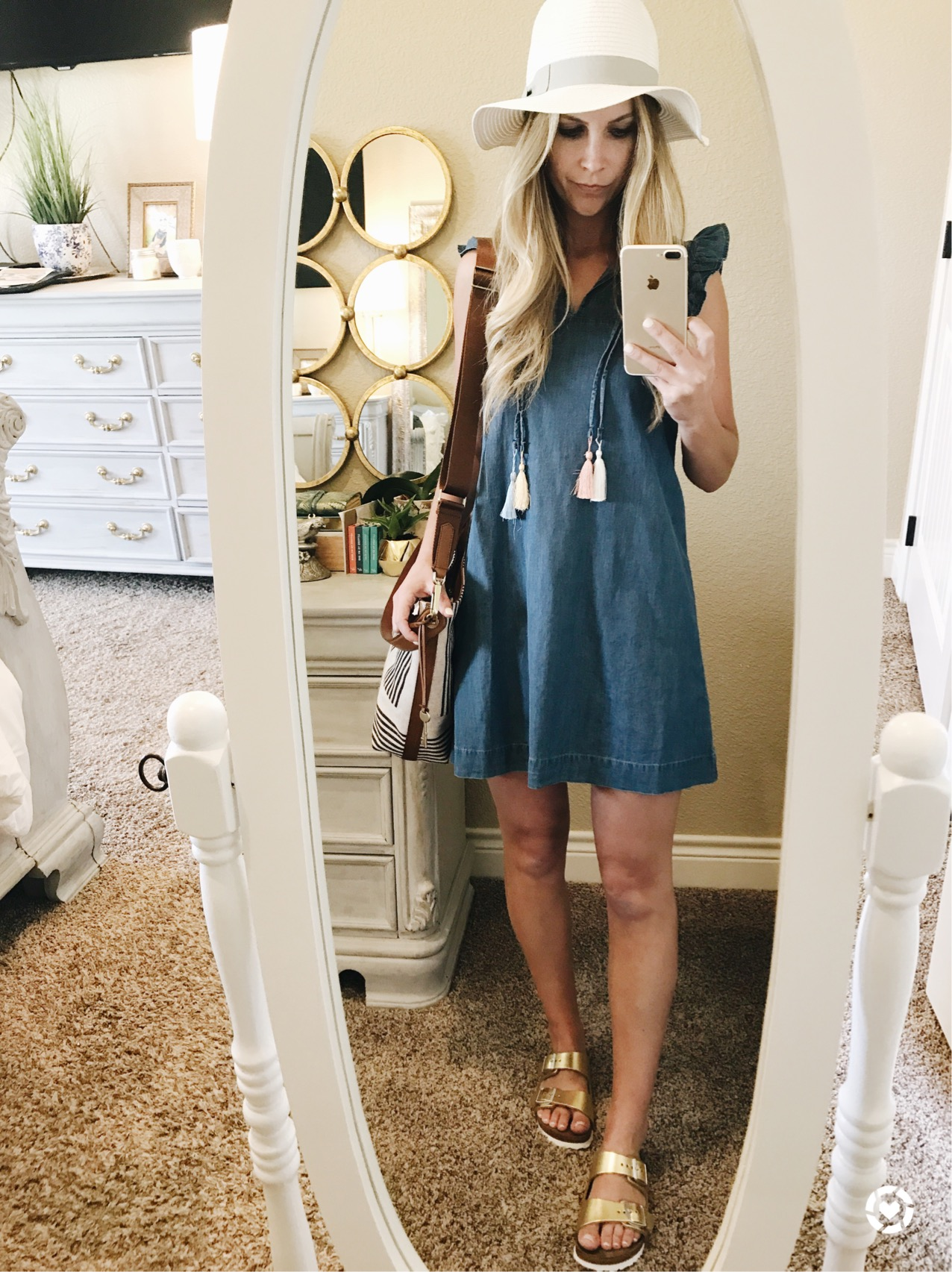 chambray dress petite LOFT