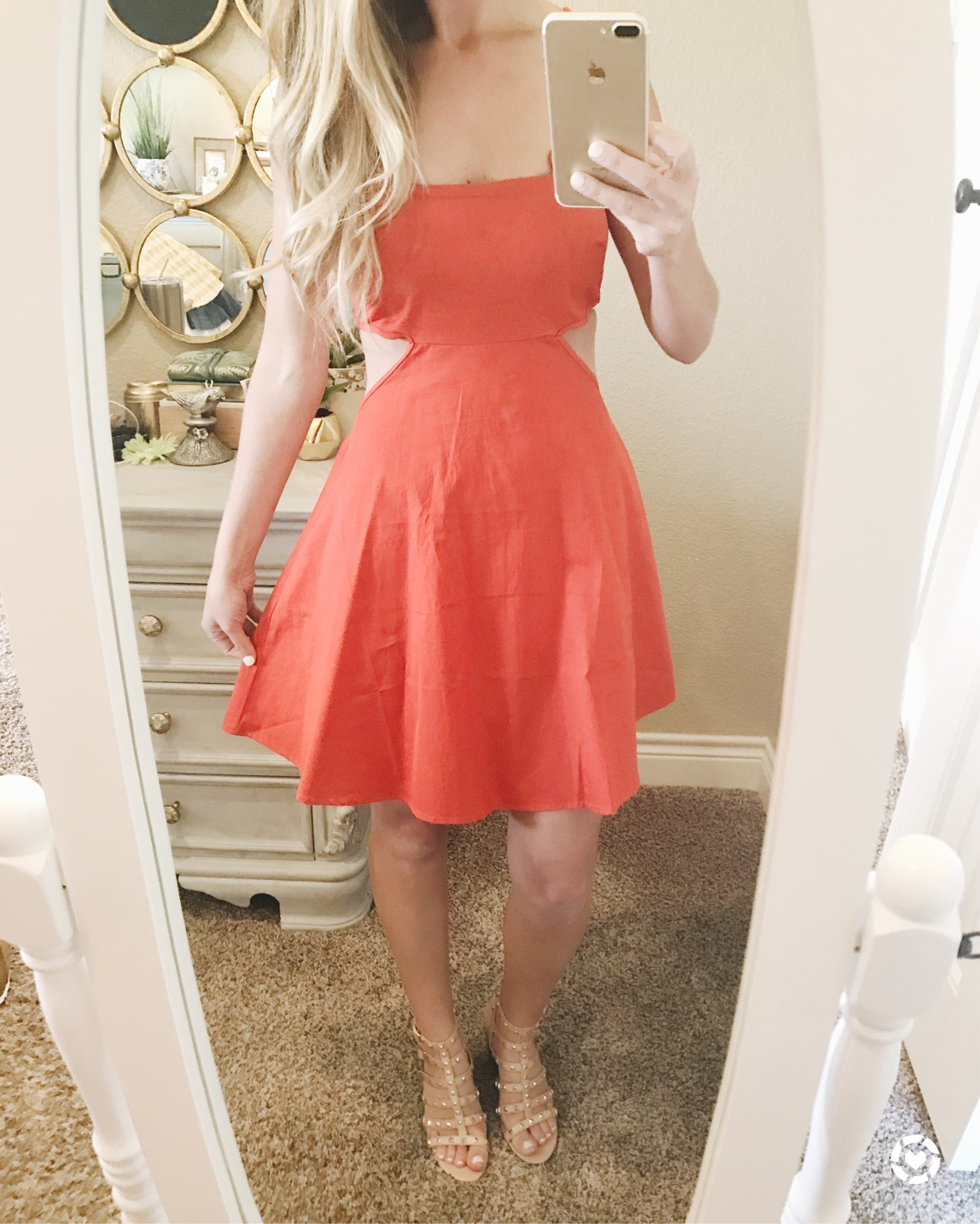 red cut out ASOS dress