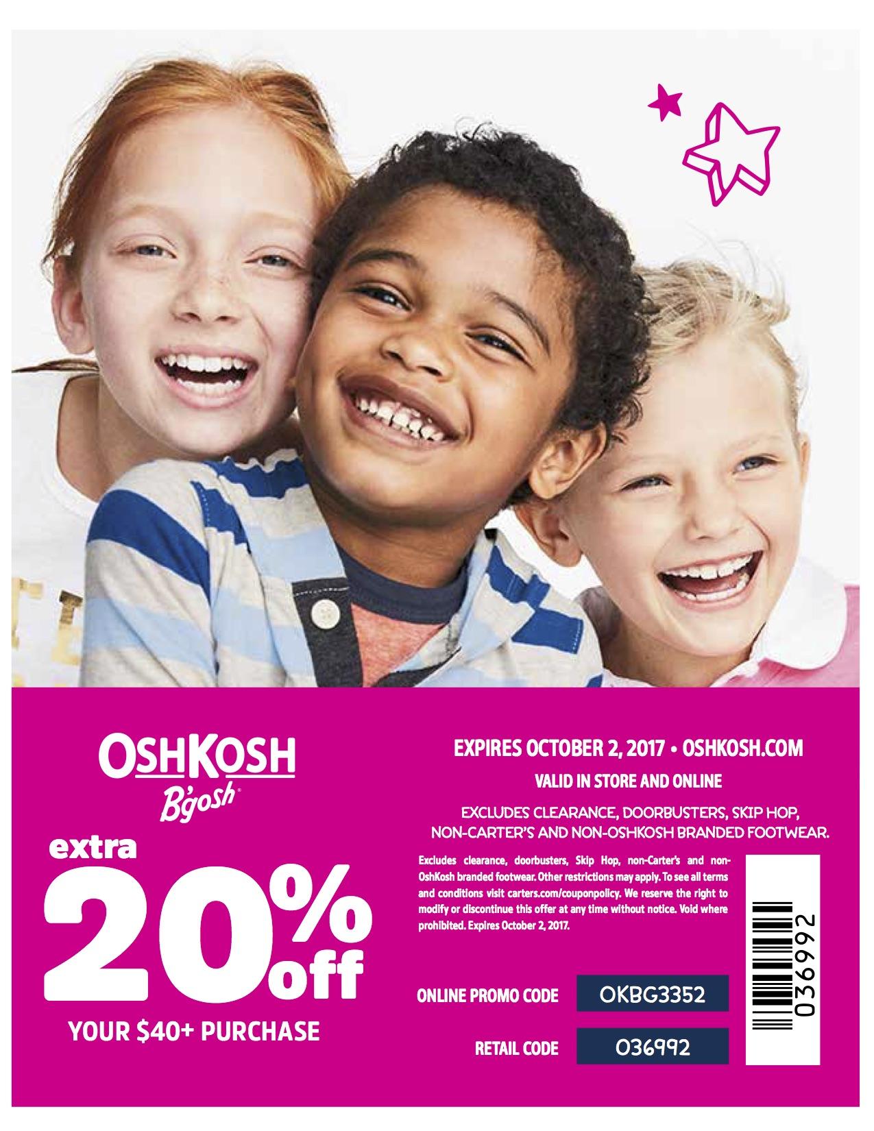 oshkosh bgosh coupon code
