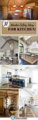 31 Innovative Wooden Ceiling Ideas To Upgrade Your Kitchen