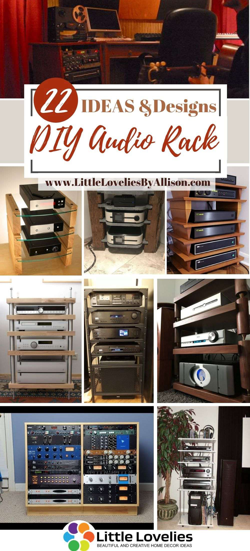 22 diy audio rack projects and ideas