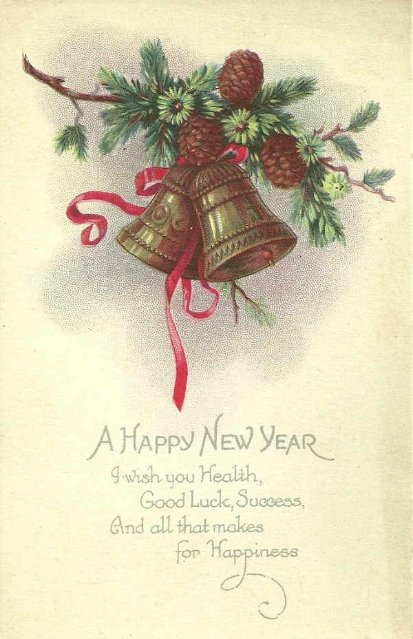 Flashback Fridays Vintage New Years Postcards Little