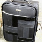 Product Review: River Island Black Patent Panel Suitcase