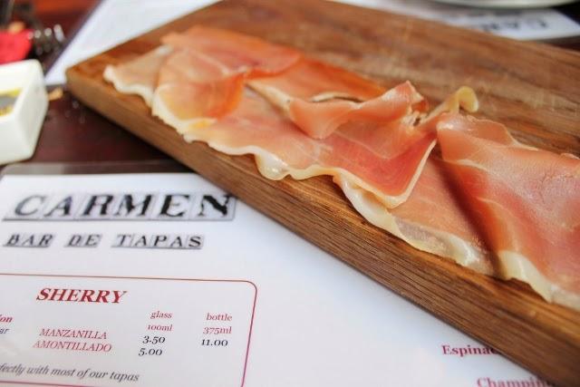Dinner at Carmen Tapas in Clapham