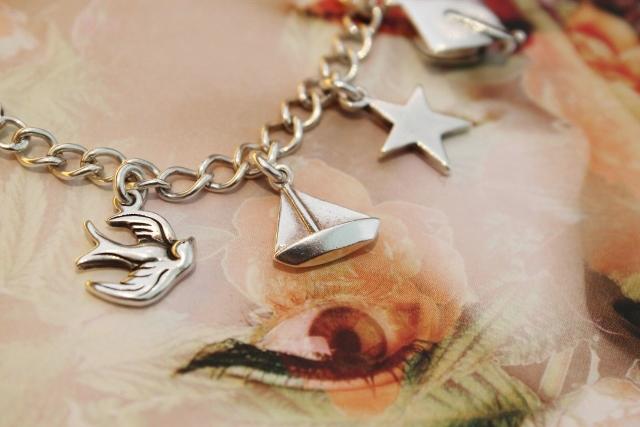 The Charm Works silver charm bracelet