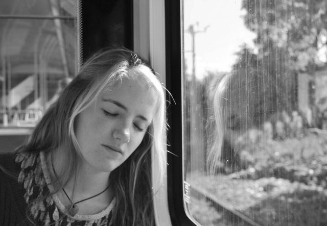 Ches asleep on the DART