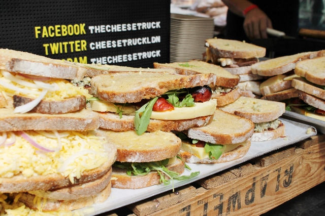The Cheese Truck grilled cheese sandwiches