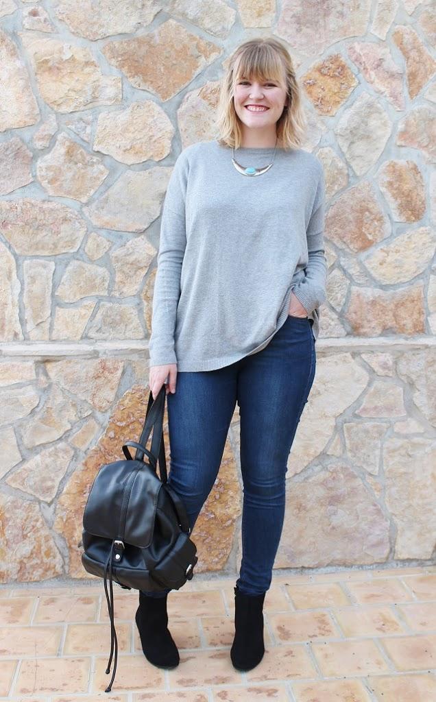 OOTD Zara grey sweater