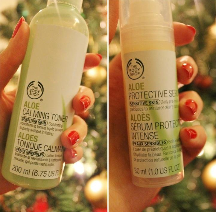The Body Shop Aloe Vera skincare