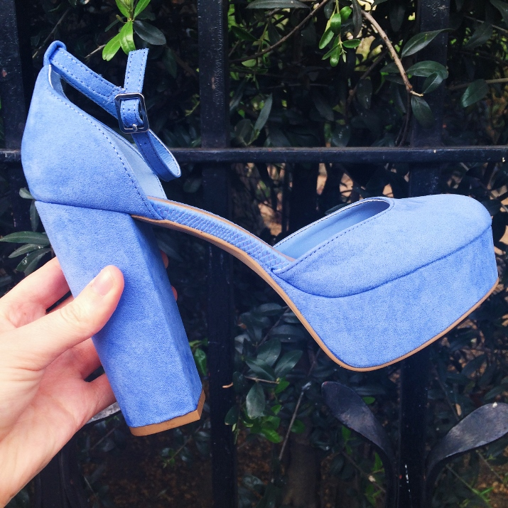 New Look blue shoes