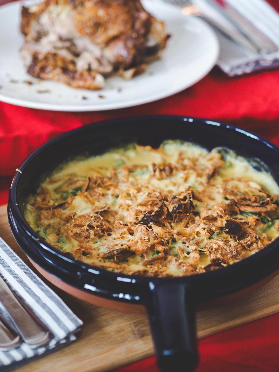 mustard green bean casserole