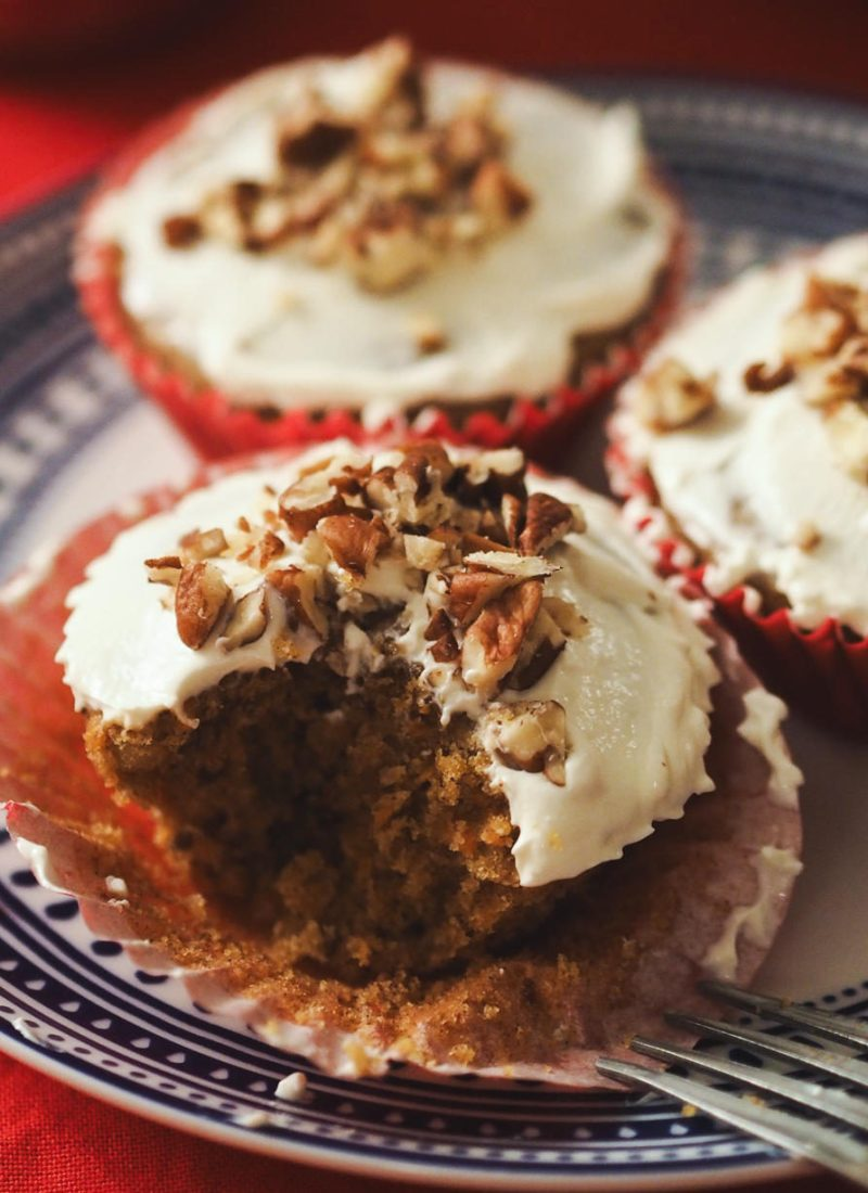 Pecan, Cranberry and Carrot Cupcakes