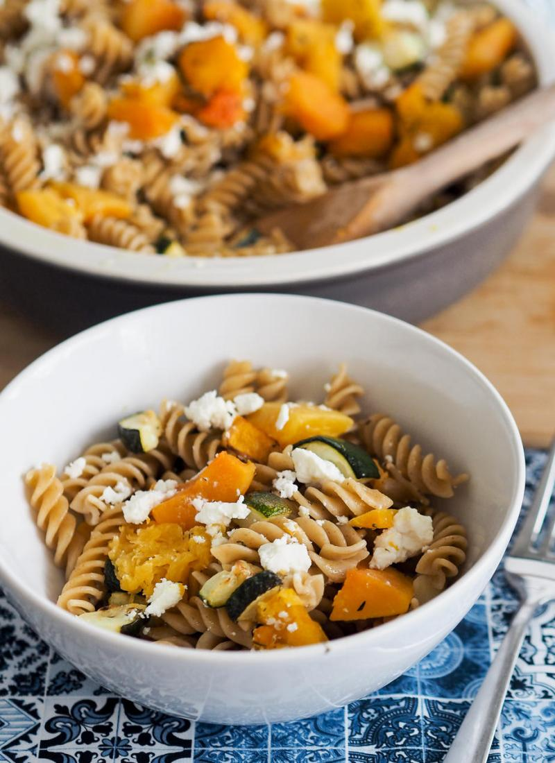 Butternut Squash, Courgette and Goat's Cheese Pasta