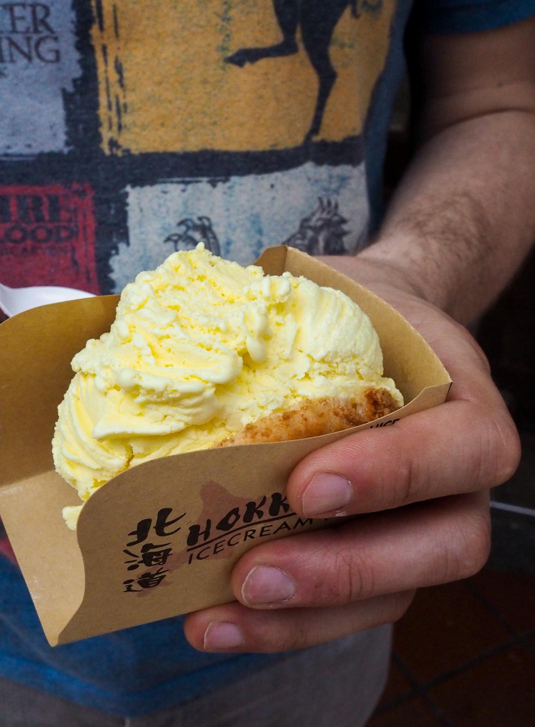 hokkaido ice cream puff