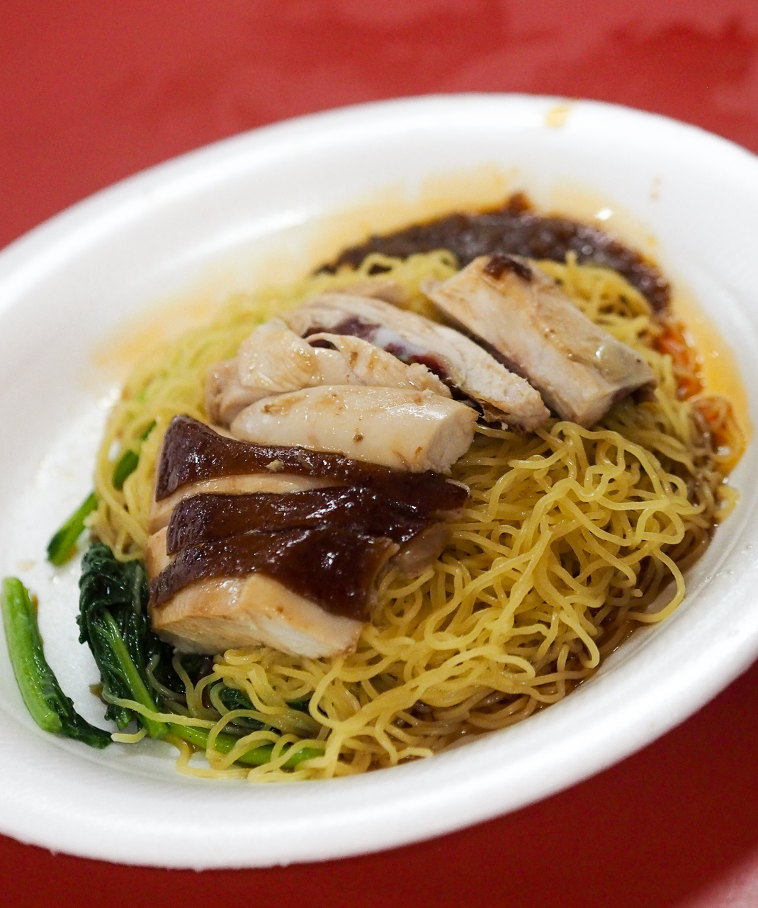 hong kong soya sauce chicken rice and noodles
