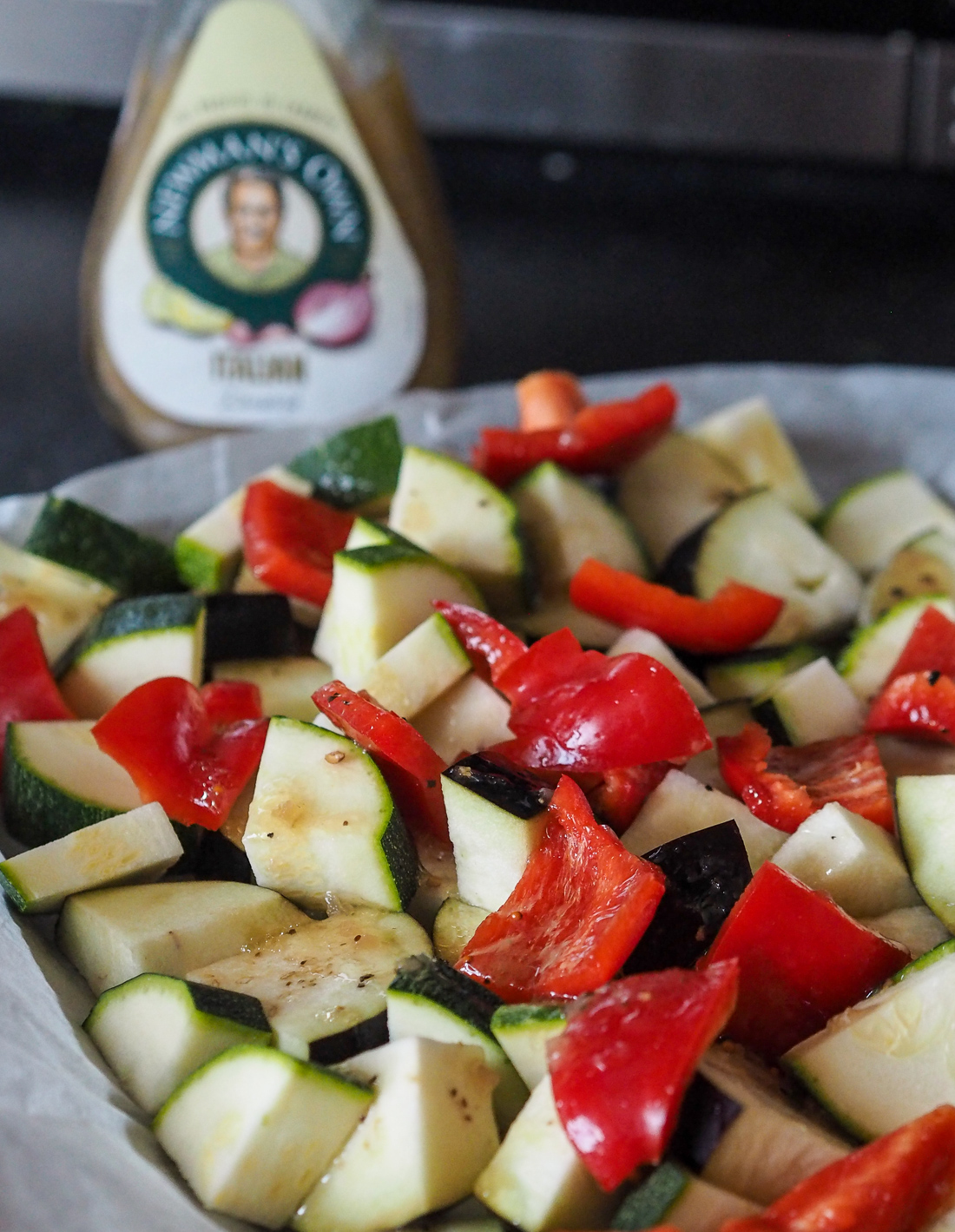 roasted vegetables with italian dressing