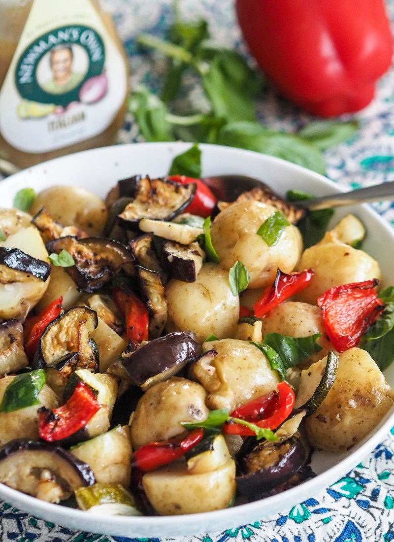 AD | New Potato And Roast Vegetable Salad with Italian Dressing