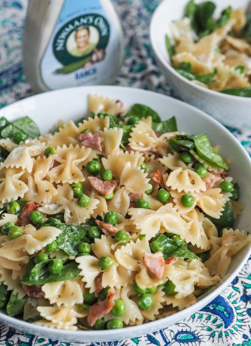 AD | Bacon, Pea and Pasta Salad with Creamy Ranch Dressing