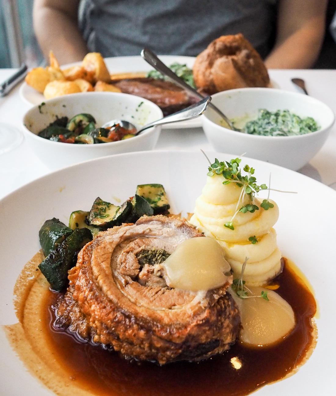 british roast dinner