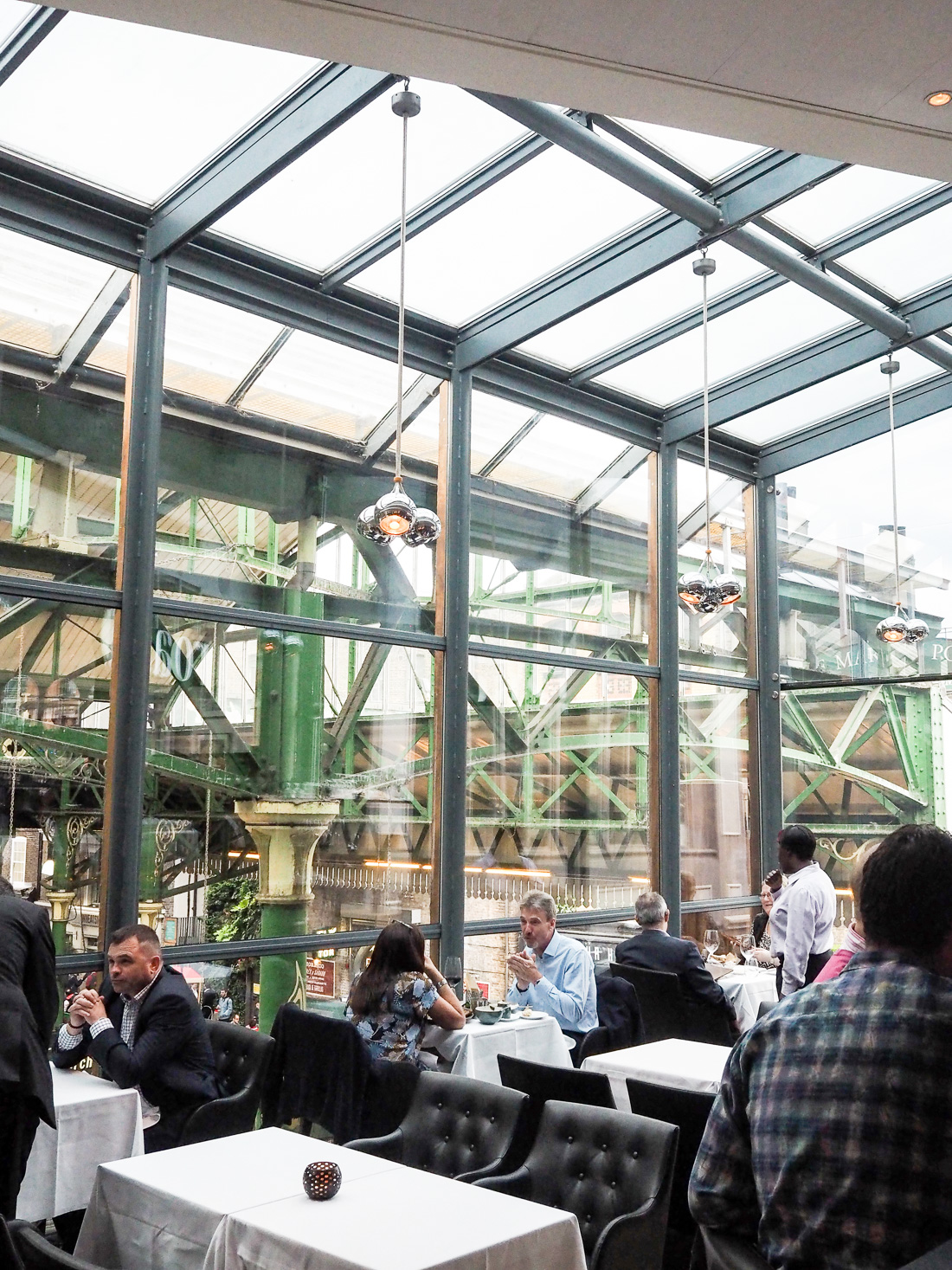 roast restaurant bar with a view of borough market
