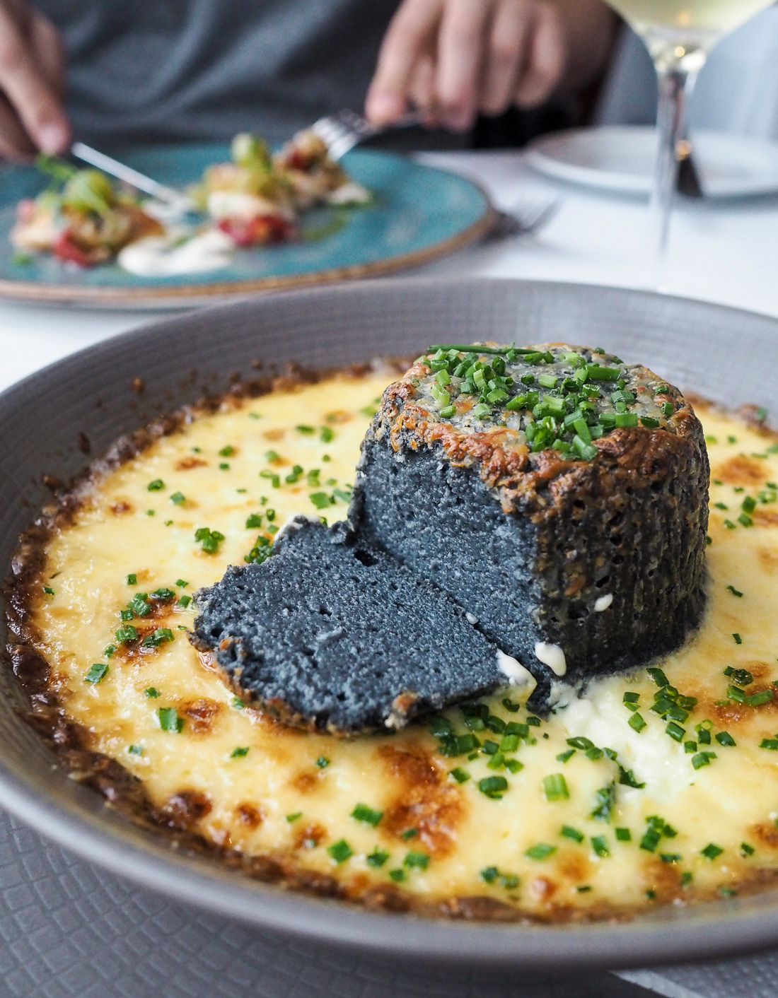 charcoal black souffle