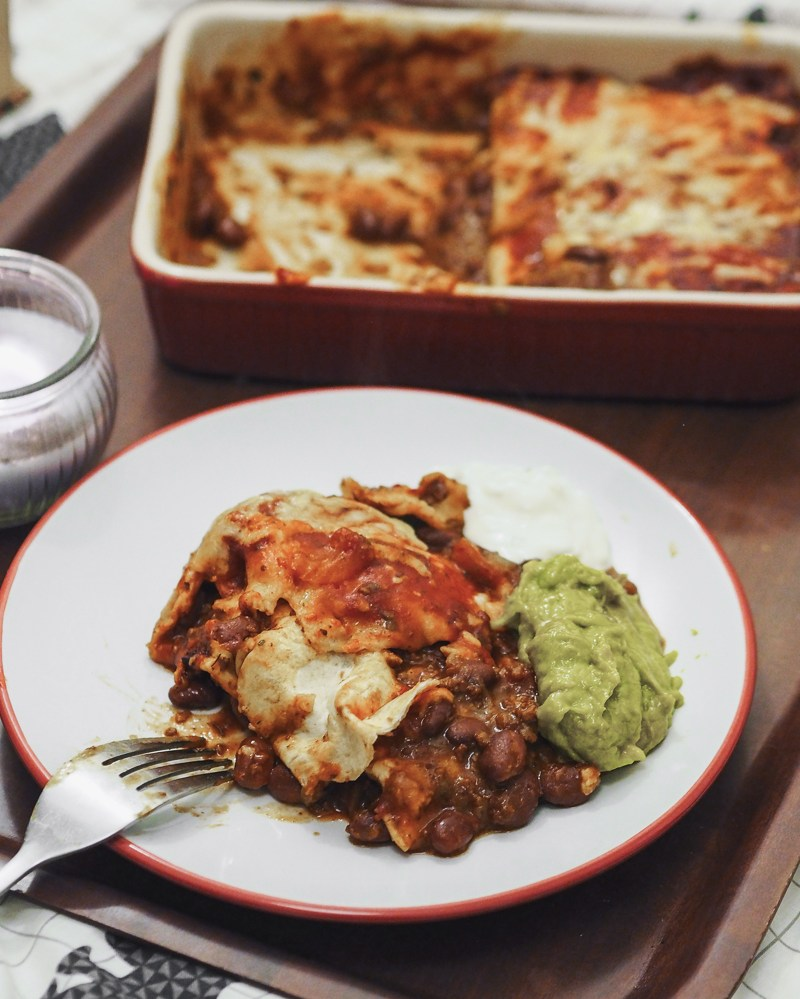 AD | Quick And Easy Vegetarian Enchiladas