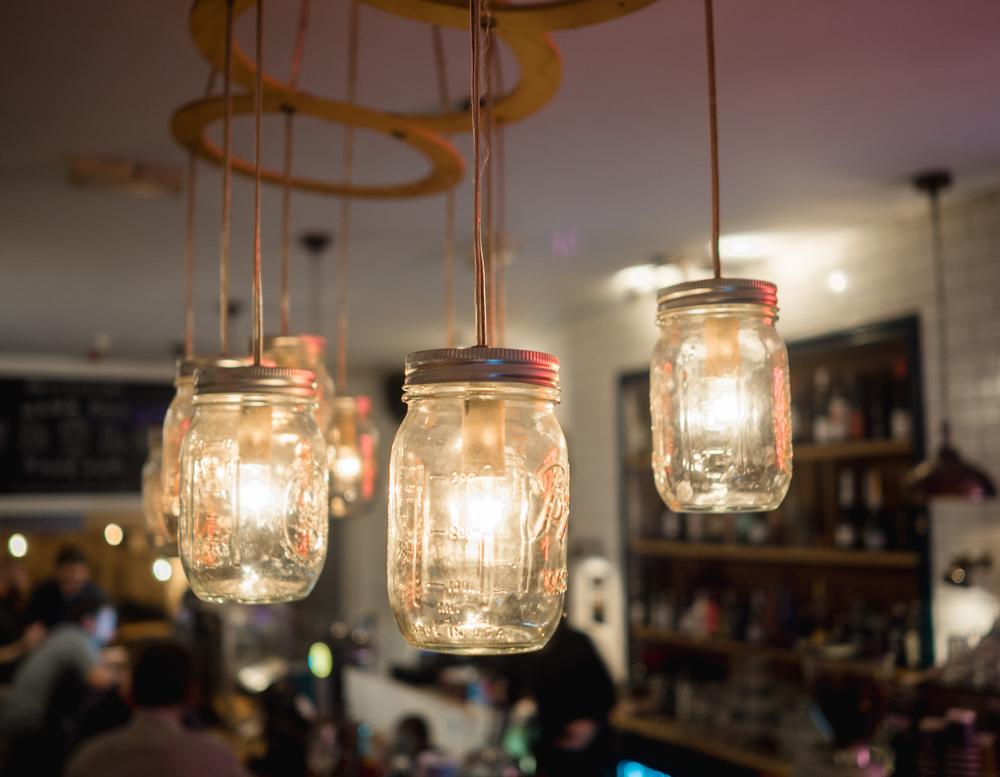 jar lamp chandelier