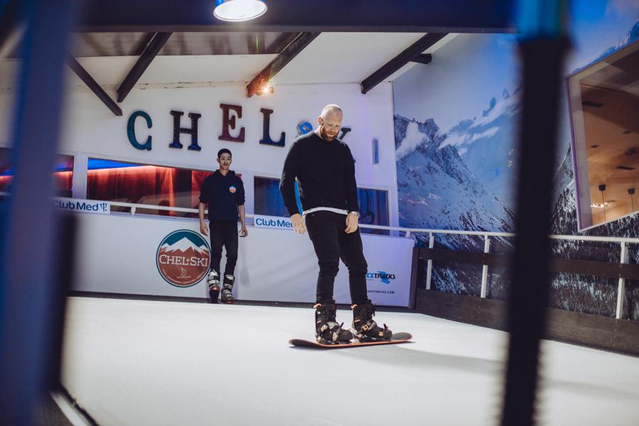 Chelski indoor snowboarding in London