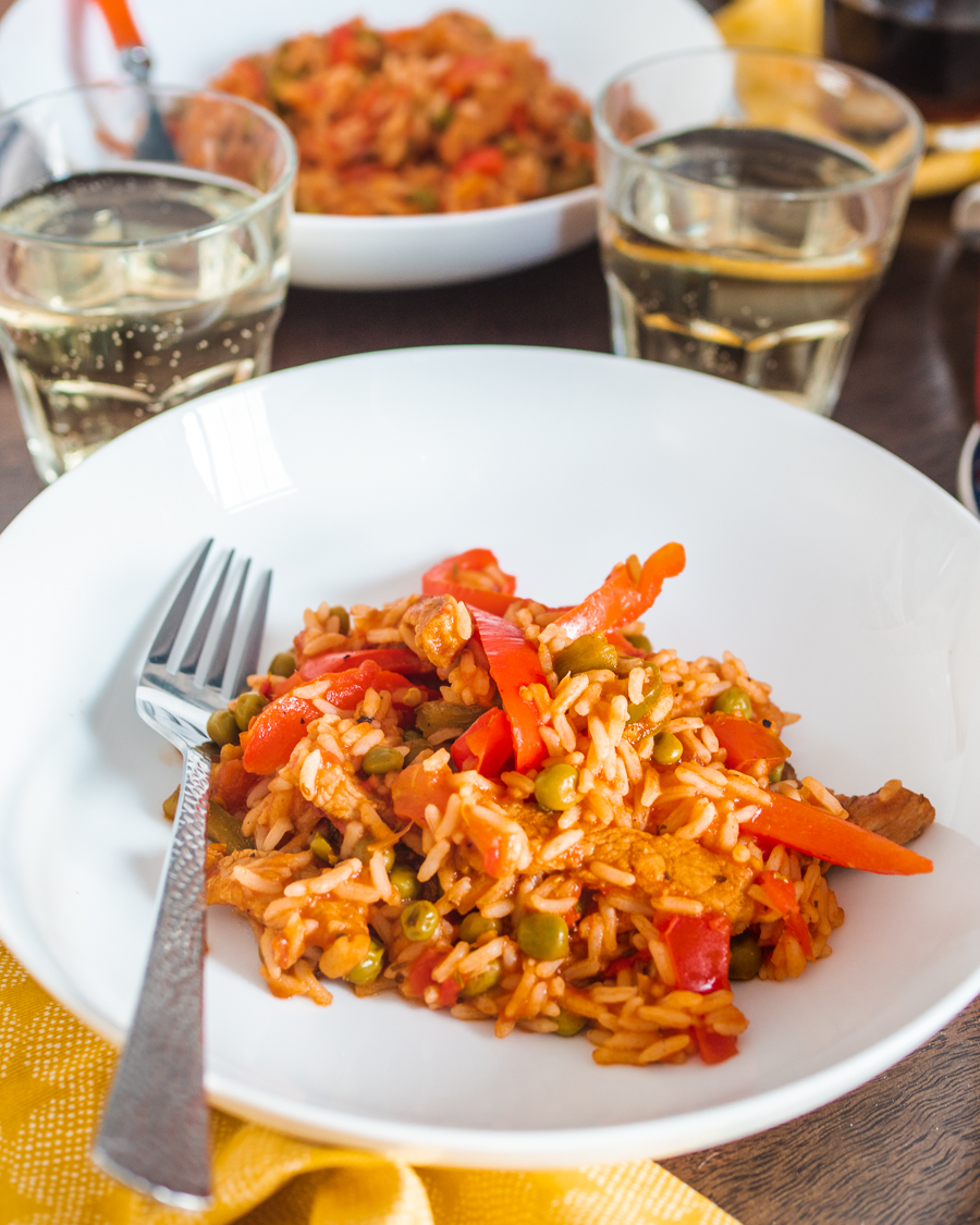 Uncle Ben's recipe - Mediterranean Pork and Tomato Rice