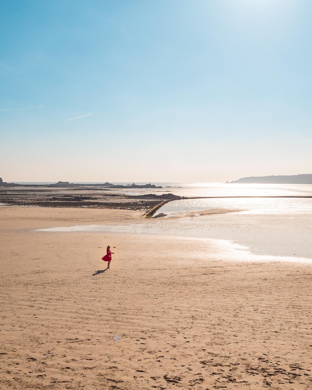 beach in Jersey Channel Islands