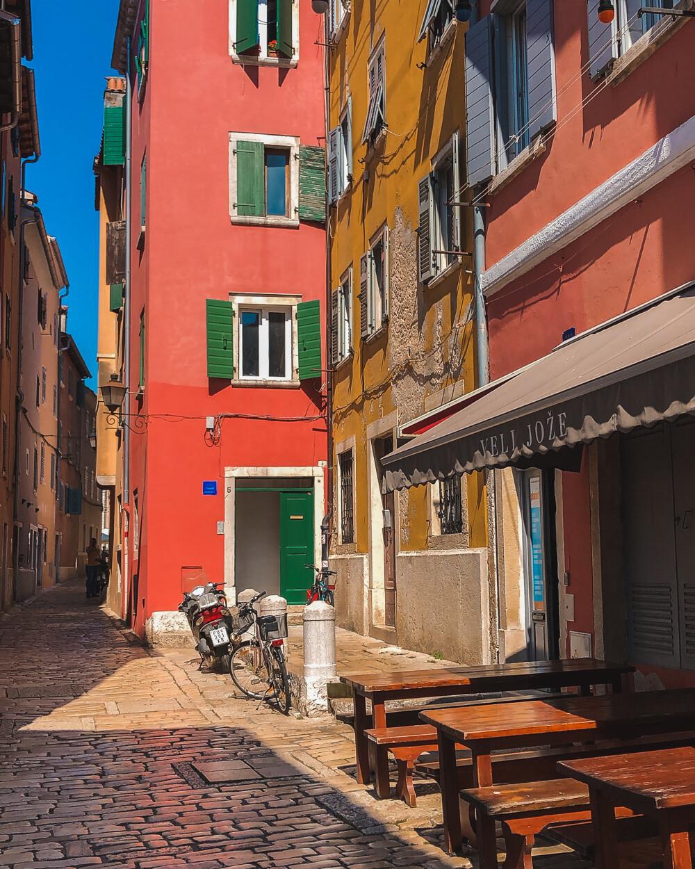 Rovinj colourful city