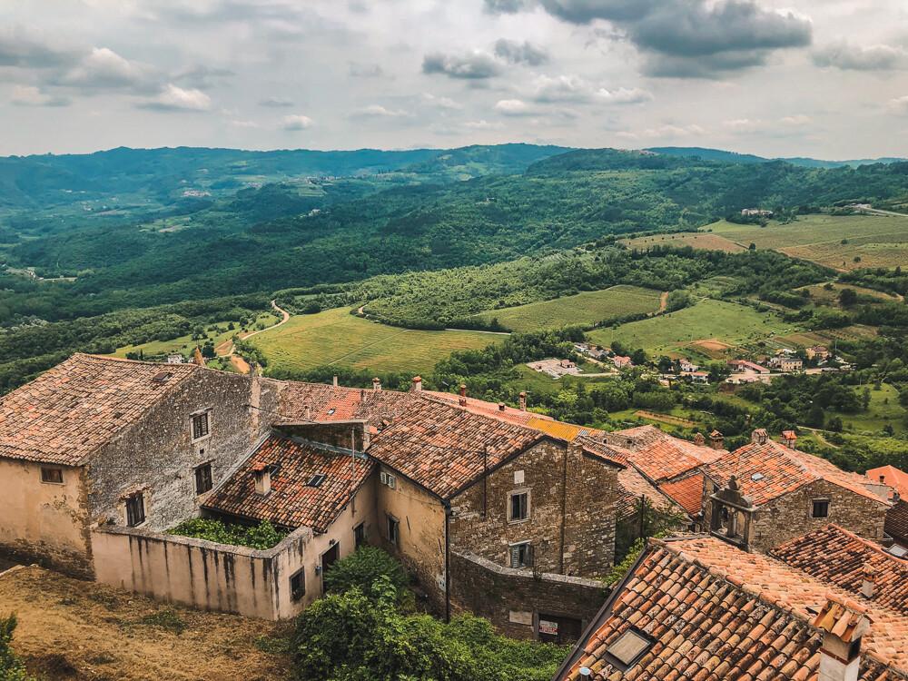 Motovun mountain town in Istria