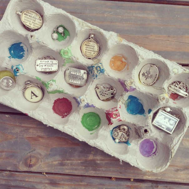 Image result for jewelry in egg cartons