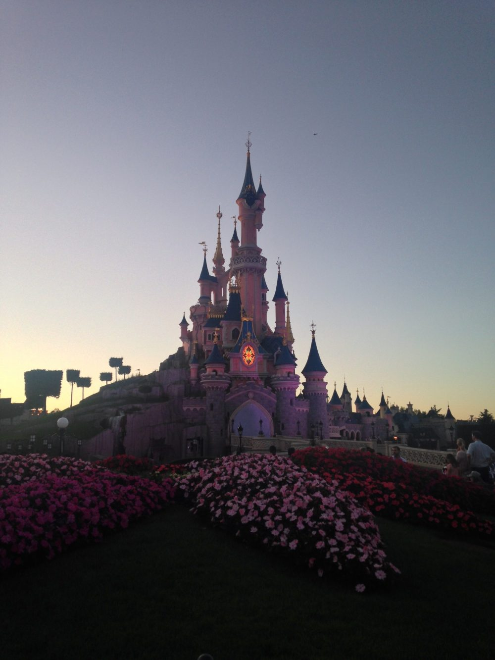 Disney Castle at Sunset