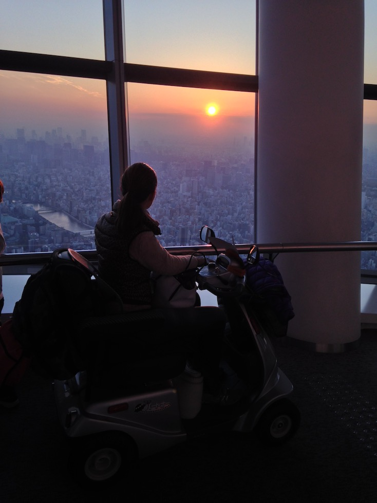 Watching the sunset from TOKYO Skytree