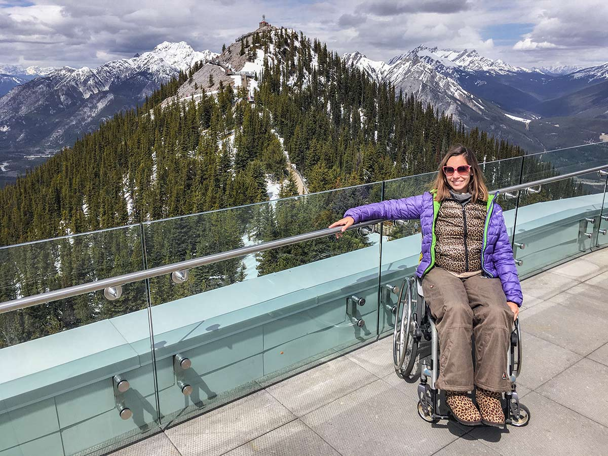 Accessible summit platform of Banff Gondola | Little Miss Turtle | Wheelchair Travel Blog