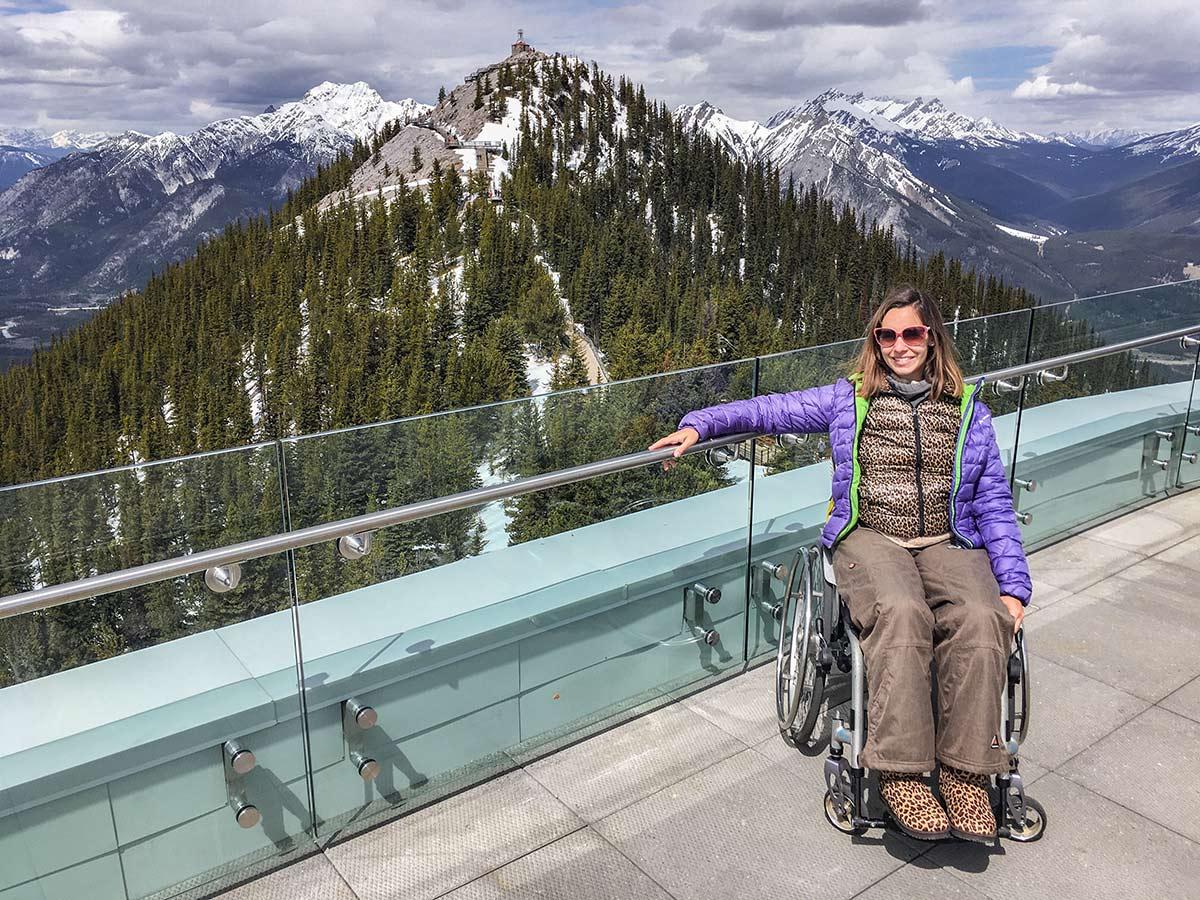 Accessible summit platform of Banff Gondola | Little Miss Turtle | Wheelchair Travel Blog