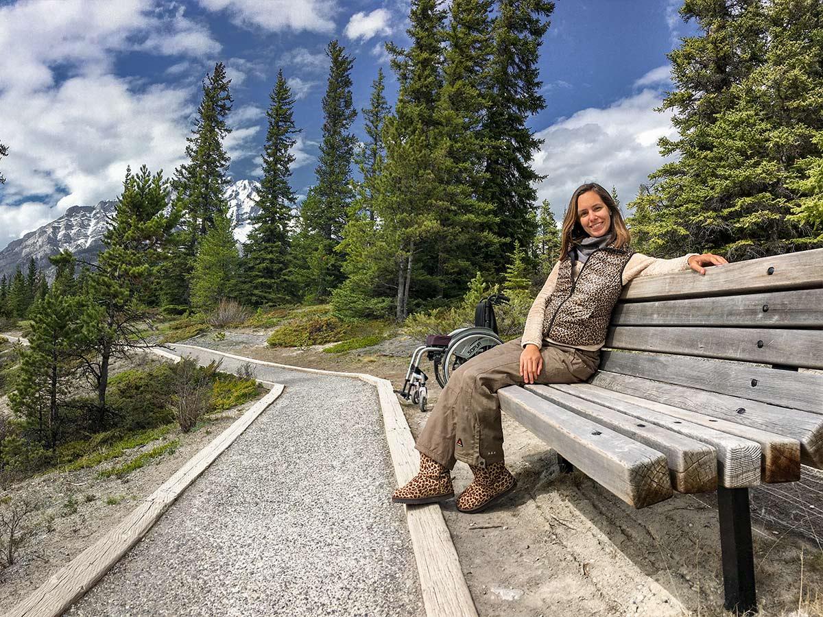 Wheelchair accessible Hoodoos Trail in Banff National Park | Little Miss Turtle | Wheelchair Travel Blog