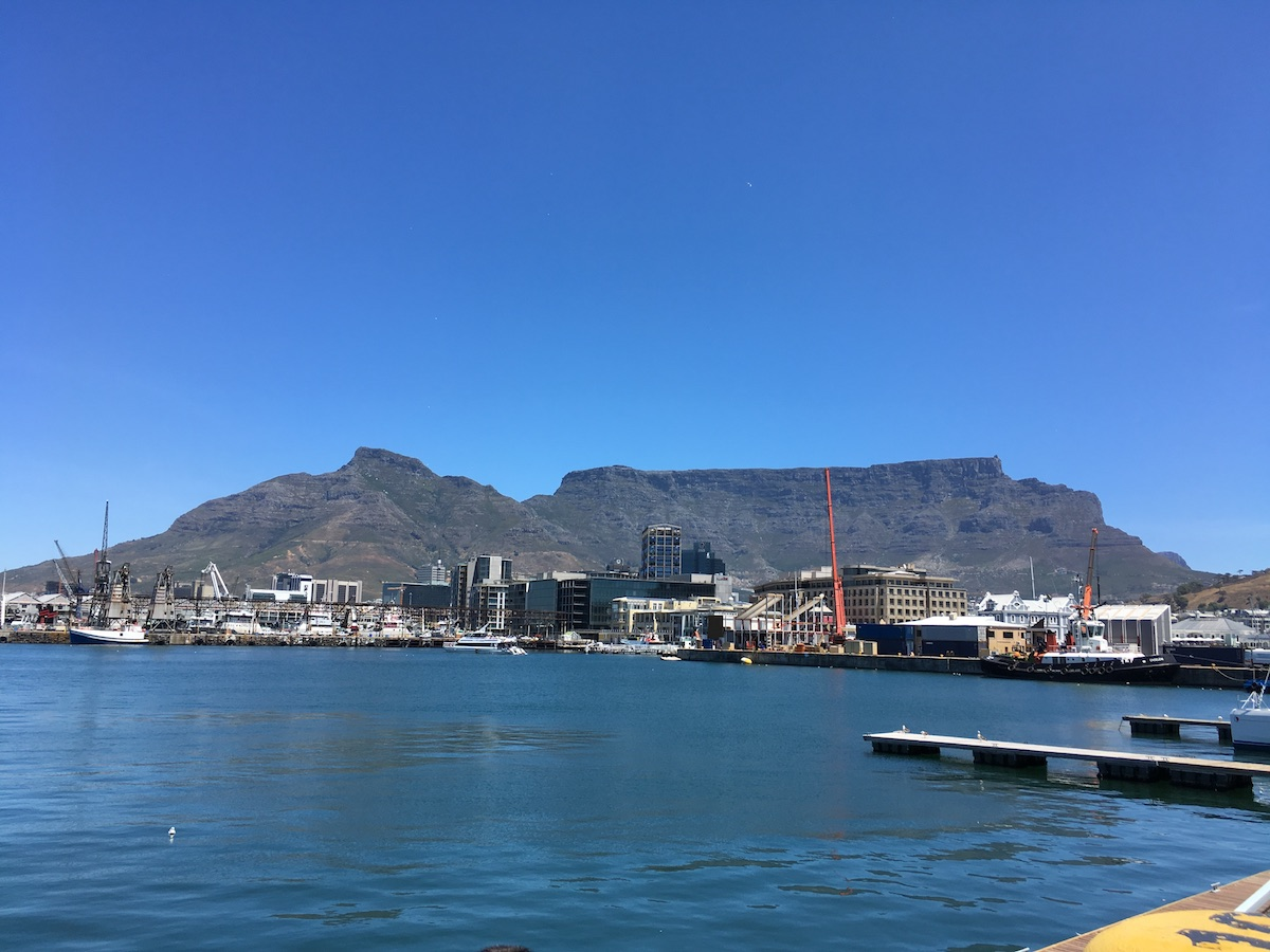V&A Waterfront with Silo Hotel and Table Mountain