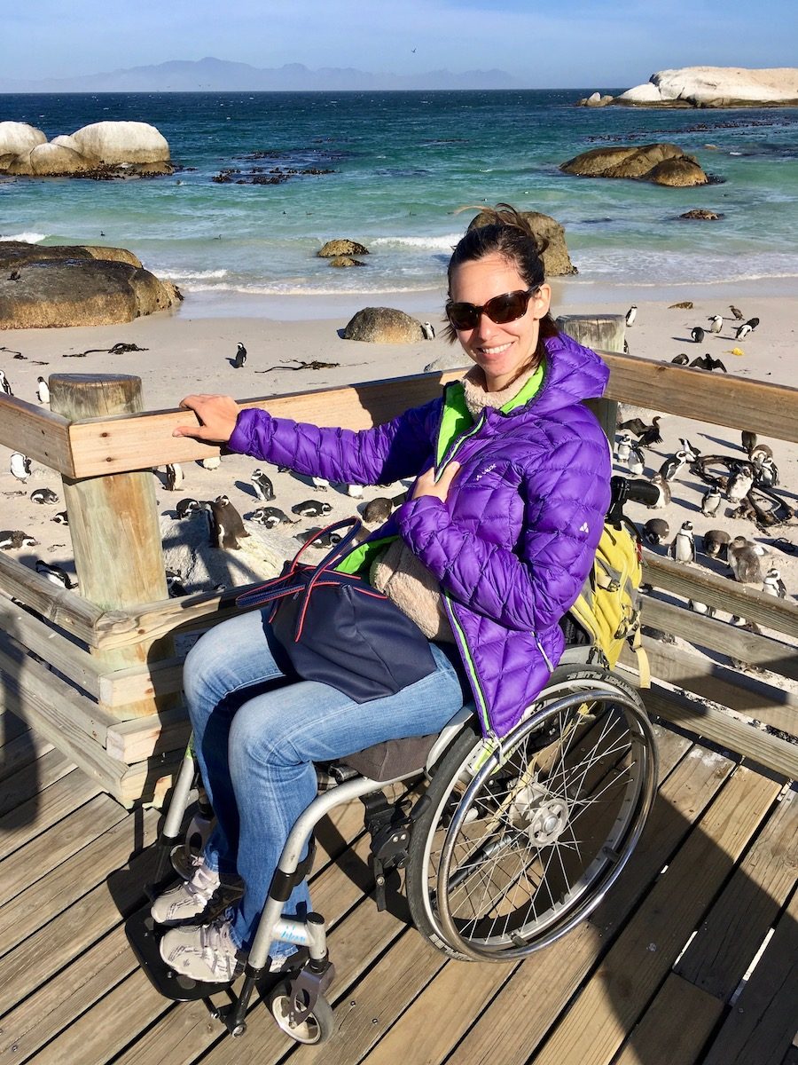 Wheelchair-accessible viewing spot at Boulders Beach