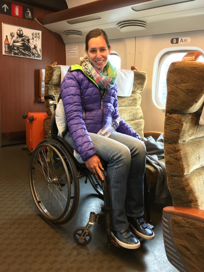 Wheelchair seat on Shinkansen Sakura | Little Miss Turtle