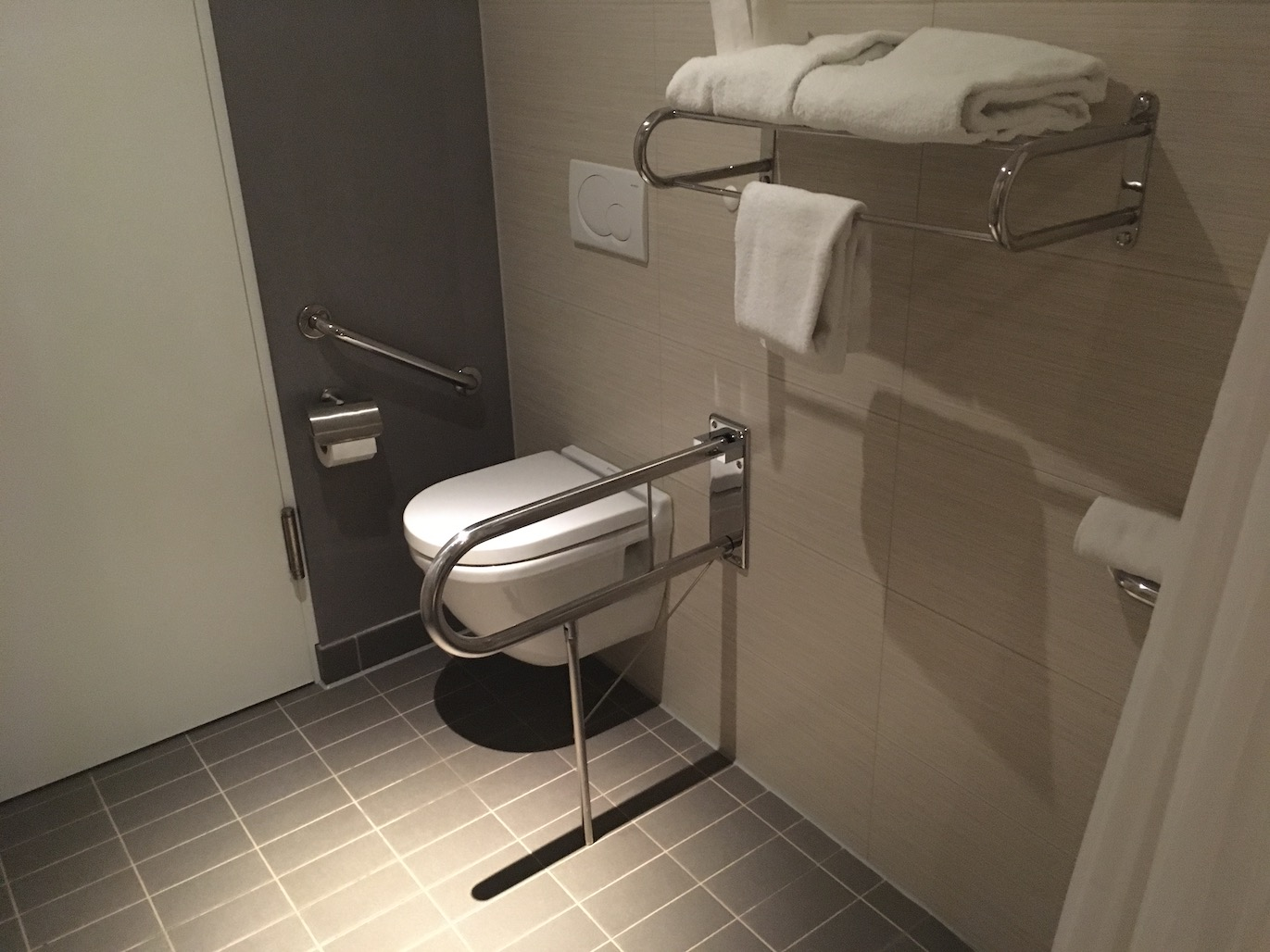 Accessible bathroom Aloft Schuman Brussels | Little Miss Turtle | Accessible Travel Blog