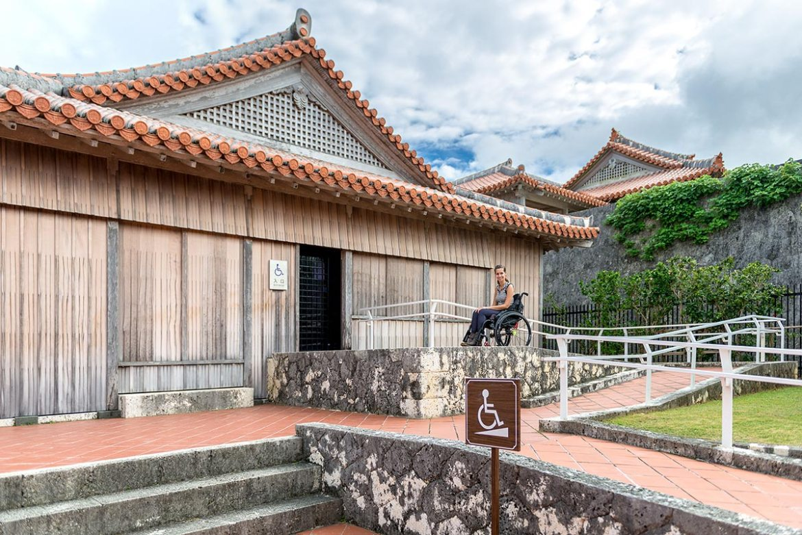 Ramp to Nanden at Shuri Castle | Little Miss Turtle | Wheelchair Travel Blog