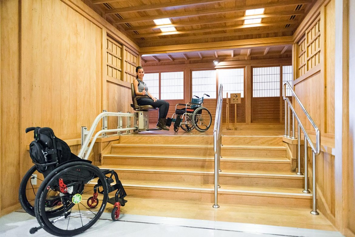 Stairlift to the Shoin at Shuri Castle | Little Miss Turtle | Wheelchair Travel Blog