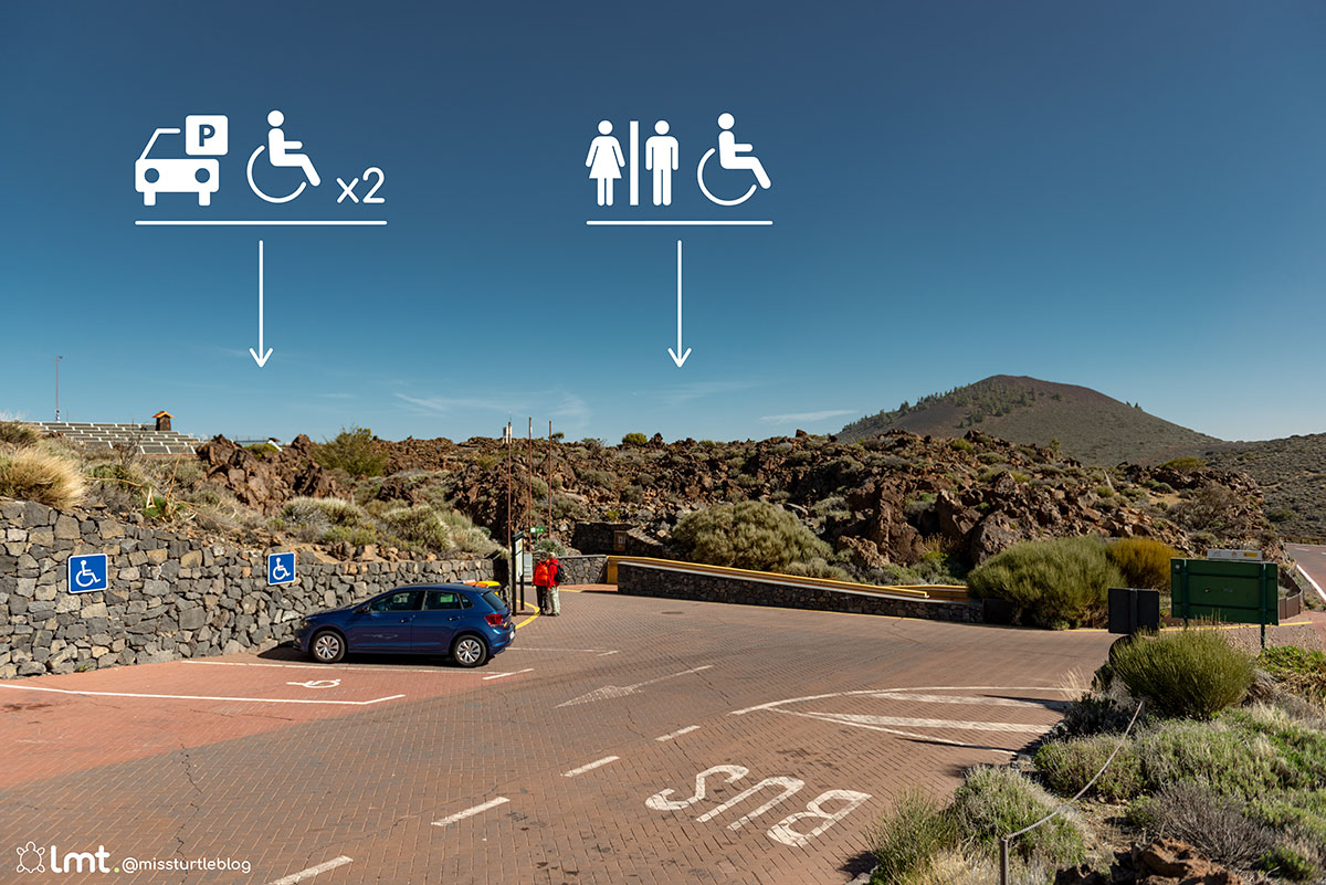 Handicap parking El Portillo Visitor Center Teide National Park