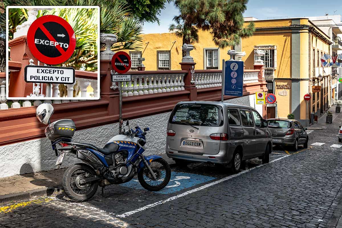 Handicap parking Icod de los Vinos