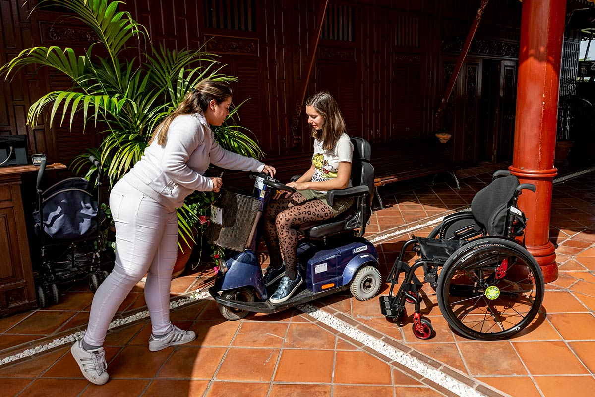 Mobility scooter rental at Loro Parque
