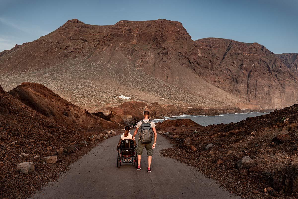 Punta de Teno in a wheelchair